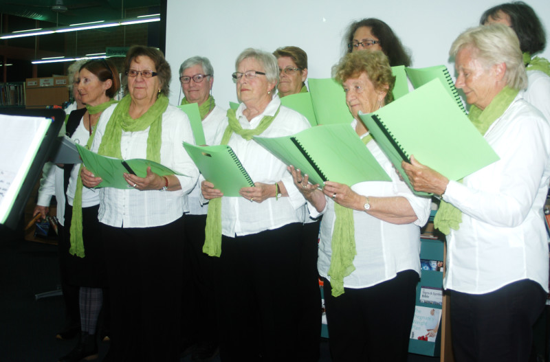 East Nowra community choir - Verdant - singing at the Berry Amnesty Group launch 20 June 2014